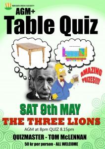 Bergen Irish A.G.M. and Table Quiz